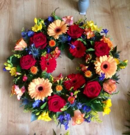 Vibrant Floral Wreath