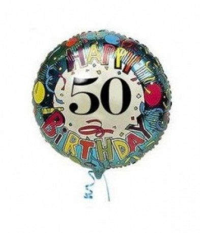 Single foil helium balloon, (any occasion)