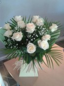 Dozen Cream Roses