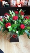 6 Red Roses & Lilies