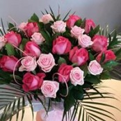 24 Mixed Pink Rose Bouquet