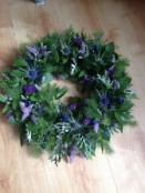Open Thistle Wreath