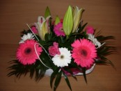 Basket of Fresh Flowers 01
